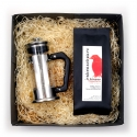 Geschenkpaket Kaffee French Press Stempelpresskanne 1 Tasse