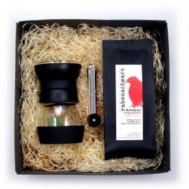 Geschenkpaket Kaffee Kaffeemühle Handmühle Skerton Pro