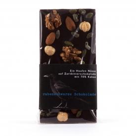 Schokolade Ein Haufen Nüsse