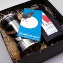Geschenkpaket Kaffee French Press Stempelpresskanne groß