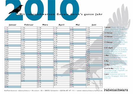 rabenschwarz-Kaffee-Kalender