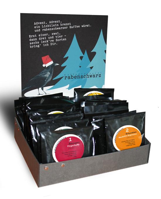 rabenschwarzer Kaffee-Adventskalender